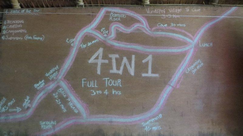 Millenium cave : notre plan de treck