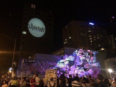 White Night - Graffiti Projection