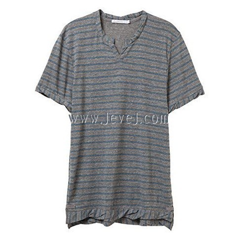 jevej com Alternative Mens Moroccan T-Shirt Large Eco Grey & Eco True Storm Stitch