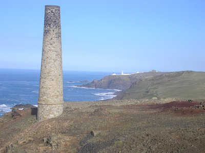 Levant looking back to Pendeen lighthouse