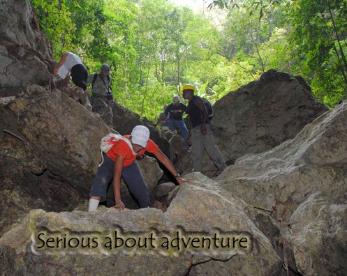 Serious about Adventure - Quashi River Rock cave
