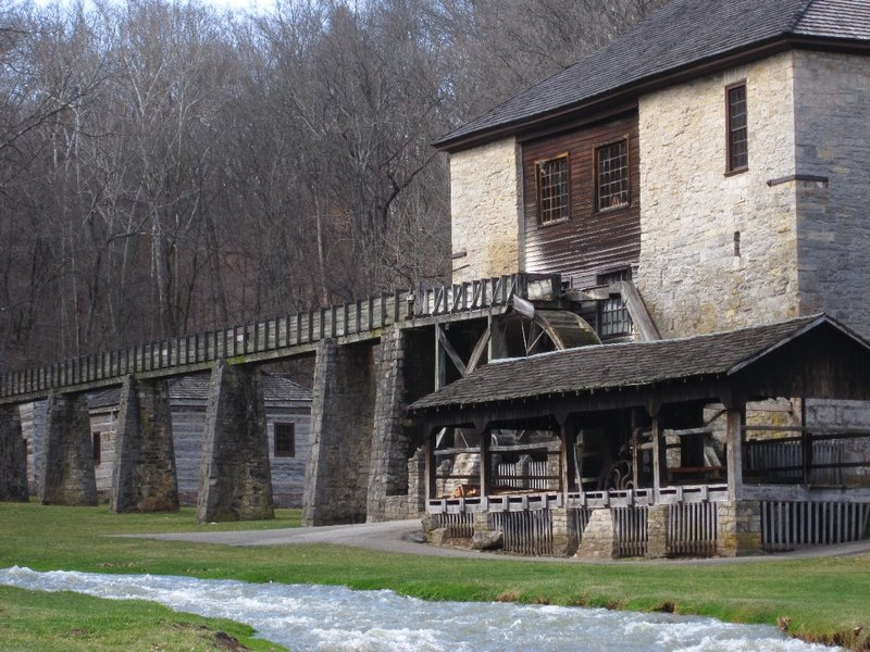 Pioneer Village in Spring Mill State park