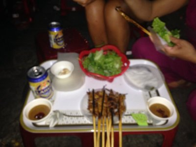 Dinner the first night in Hoi An