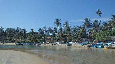 A small lagoon in Arugam Bay