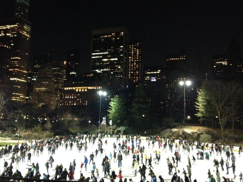 Skating in Central Park