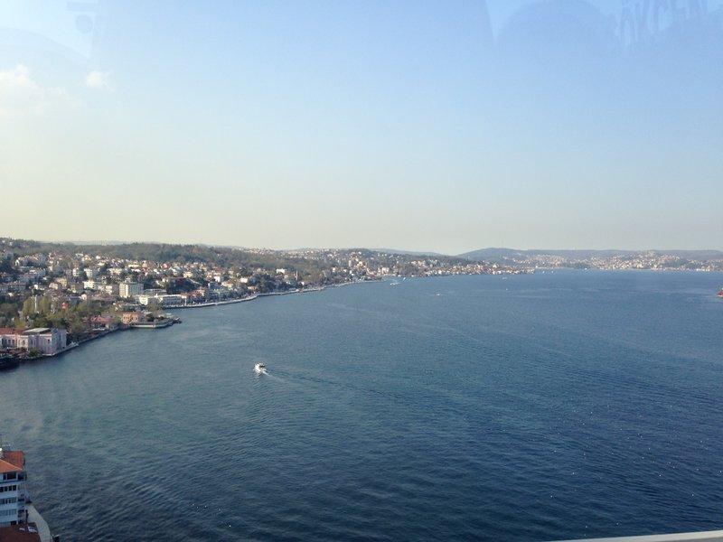 Crossing the Bosphorus into Istanbul