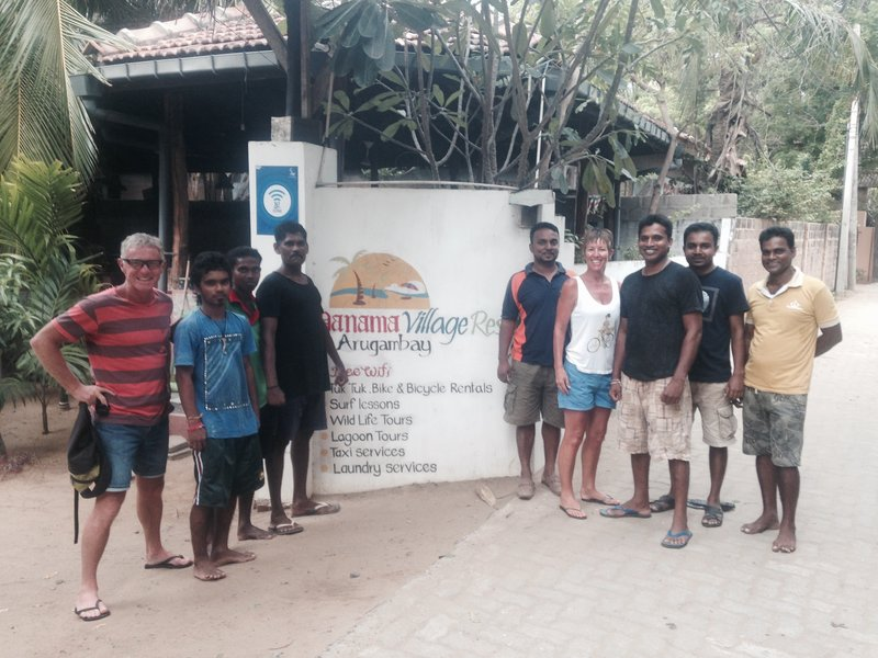 The great staff at Panama Village Resort - Chamara, Heiran, Suranga, Chandrabala, Harshana, Ajith, Iroshana, Sanjeewa