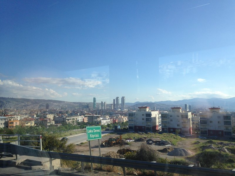 Arriving in Izmir from Eceabat on the bus