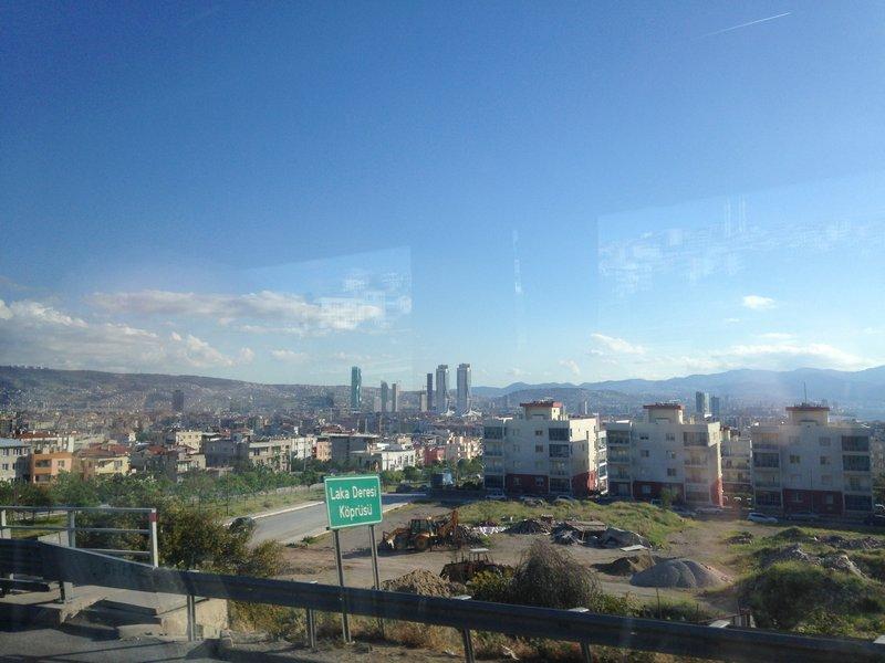 Arriving in Izmir from Eceabat on the bus