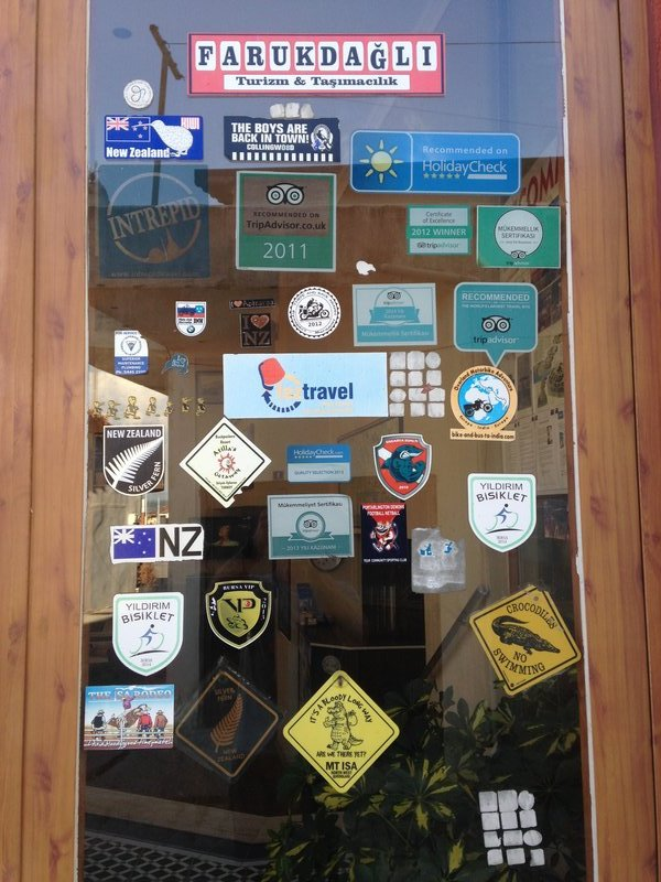 The front door to Crowded House Hotel