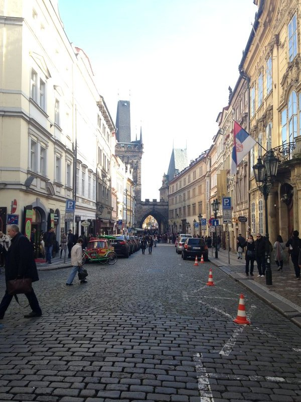 In the streets of Prague