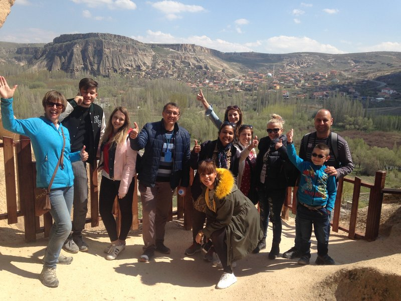 The Selime Monastery - our happy tour group