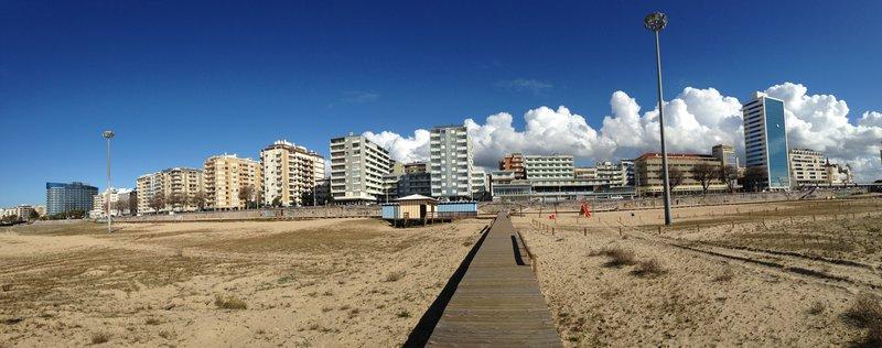 The beach front at Figueira da Foz