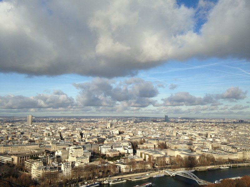 Views from the Eiffel Tower
