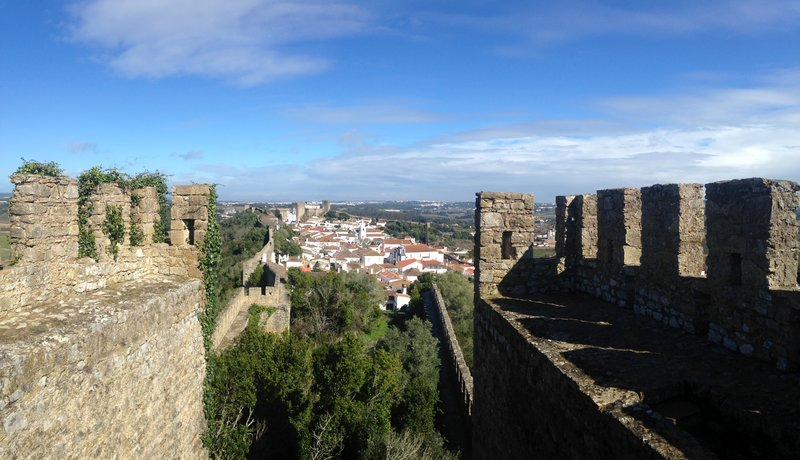 The view of Obidos from the walls surrounding it
