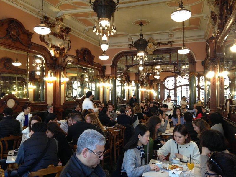 Inside the Majestic Cafe
