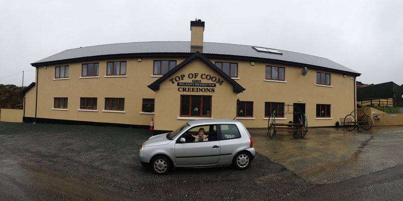 Top of the Coom Pub - the sign said open but unfortunately it was not!