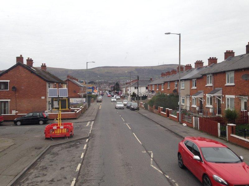 Heading towards the Falls Road area of Belfast