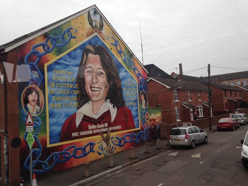 Mural of Bobby Sands in the Falls Road