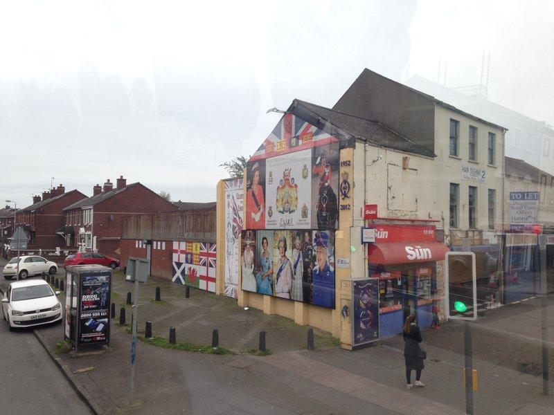 Loyalist murals on Shankill Road