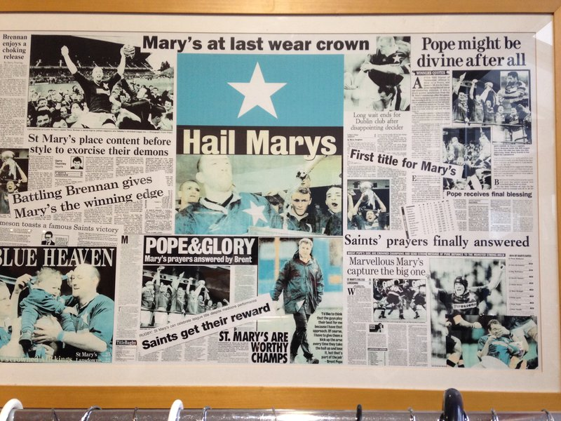 The land of 'Pope' and Glory! - St Mary's Clubrooms