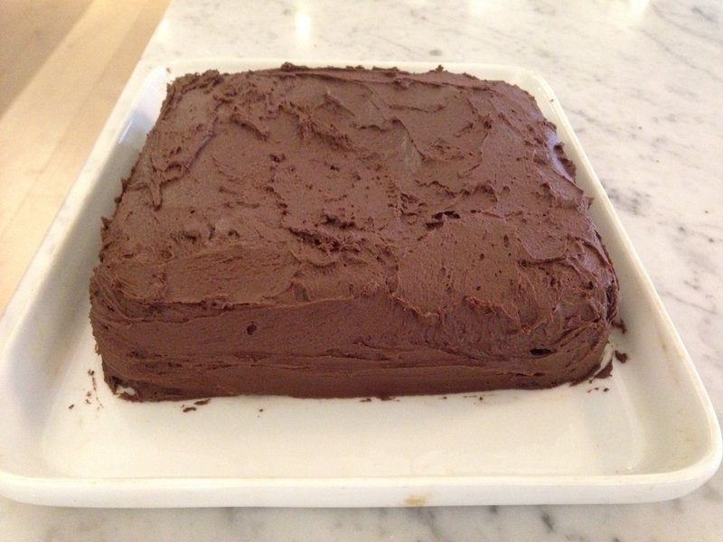 We had time to do some baking - first go at 'Gill's Chocolate Cake'
