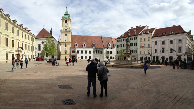 The square in Old Town Bratislava