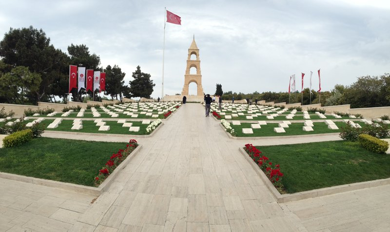 57th Turkish Infantry Regiment Cemetery and Memorial at Quinns Post - not one soldier survived from this regiment