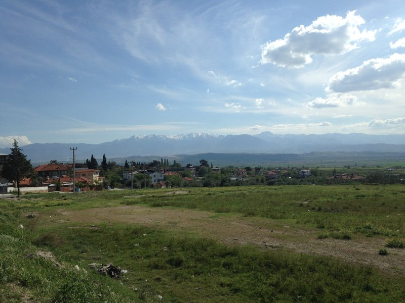 The view from Pamukkale - the mountains behind Izmir
