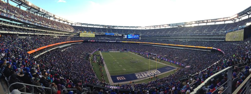 Met Life Stadium  - Giants vs Eagles. Jamie organised tickets to this game. We traveled out by train which dropped us right at the venue. Great atmosphere, typical stadium food, cold beer and good fun!