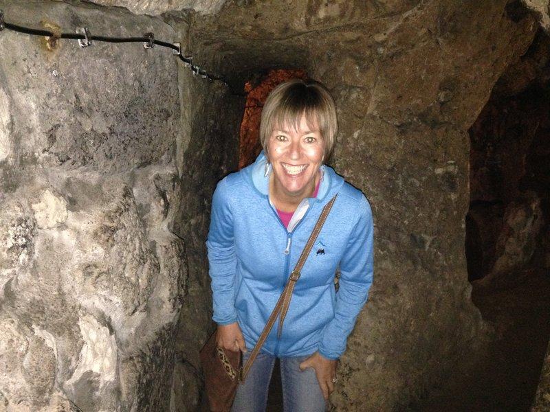 Lynelle in the Derinkuyu Underground City