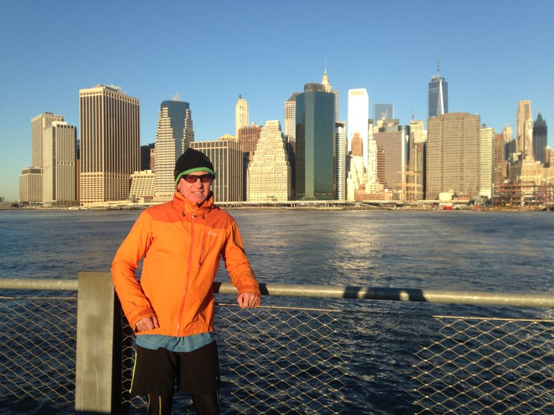 On a run to Brooklyn Bridge Park
