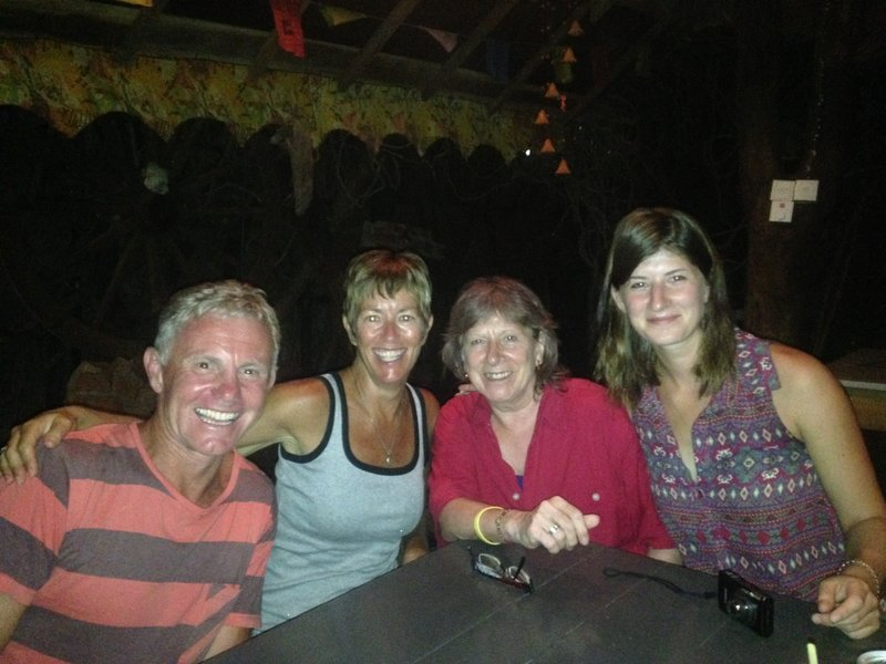 Dinner with friends we met on the train to Kandy. Lisa and Nina from Germany