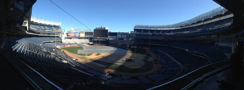 Yankee Stadium with football posts??
