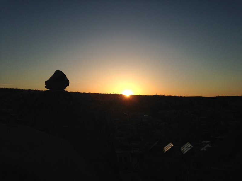 A beautiful sunset on our last evening in Göreme