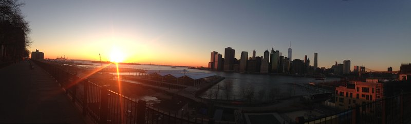 Sunset from Brooklyn Heights