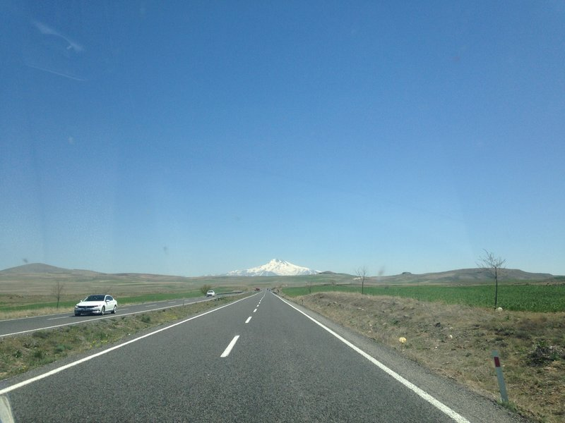 On the road to Kayseri to catch our plane