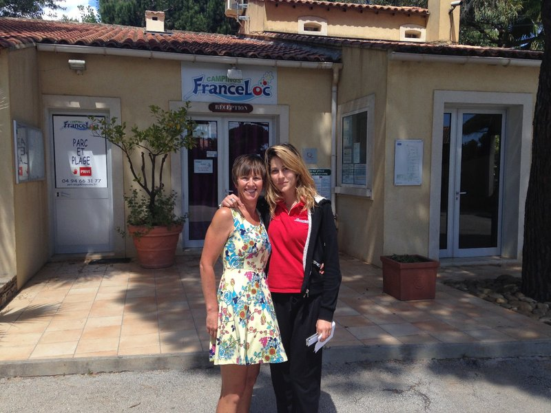 Our lovely host 'Floriane' at Parc et Plage