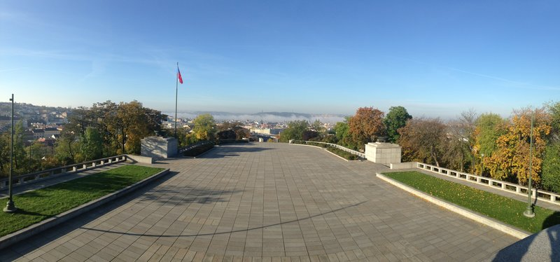 View from the The National Monument on top of Vítkov hill