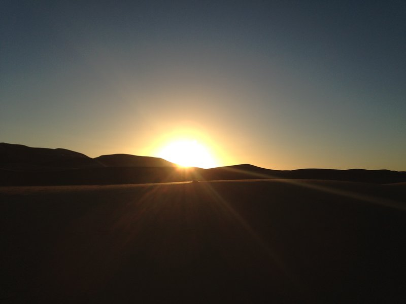 The sun going down in the Sahara!