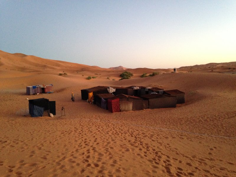 Our camp in the Sahara