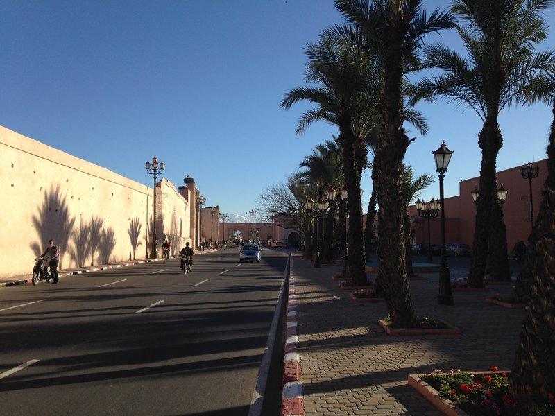 The avenue leading into the Medina