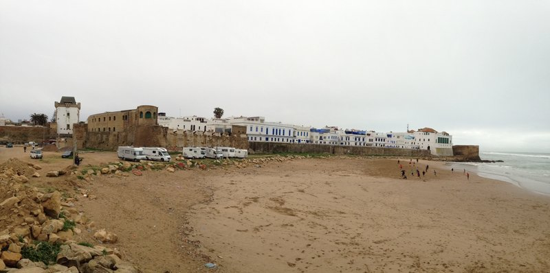Some views of around Asilah - Campervans and soccer on the beach