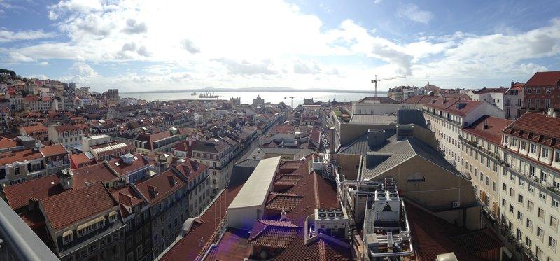 View from the Santa Justa Lift looking over Baixa Pombalina