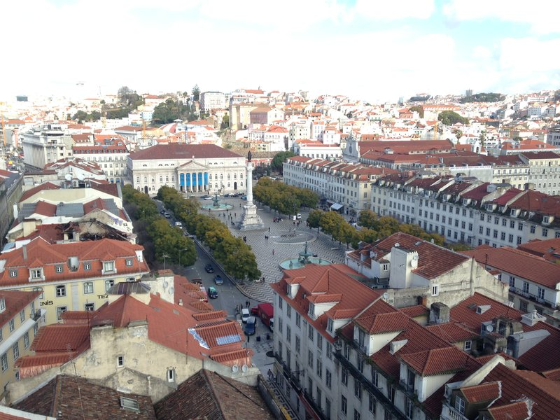View from the Santa Justa Lift looking over Baixa Pombalina