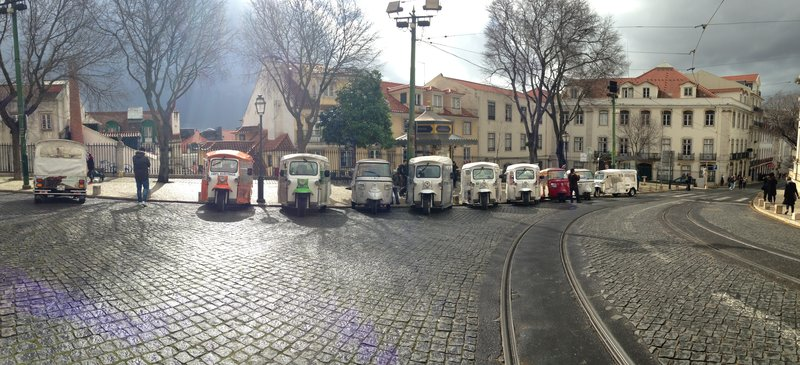 Images of Lisbon - another great lineup of tuk tuks