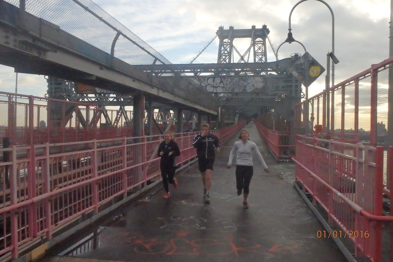 Running on the Williamsburg Bridge