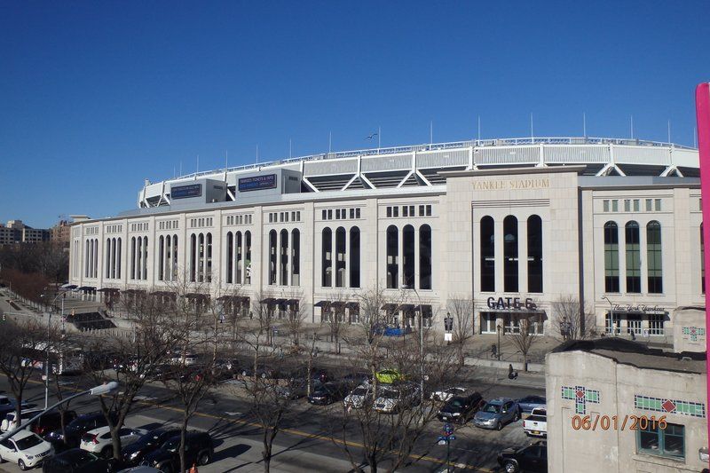 Yankee Stadium from the train station. Yankee Stadium was rebuilt in 2005 but it was still great to be able to get a tour around and see the Museum displays of the teams great history!