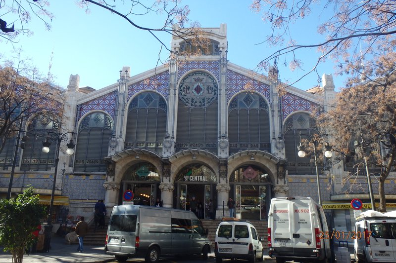 The architecture in Valencia