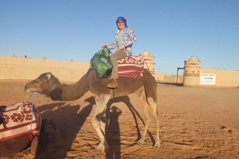 Heading out to our camp in the Sahara
